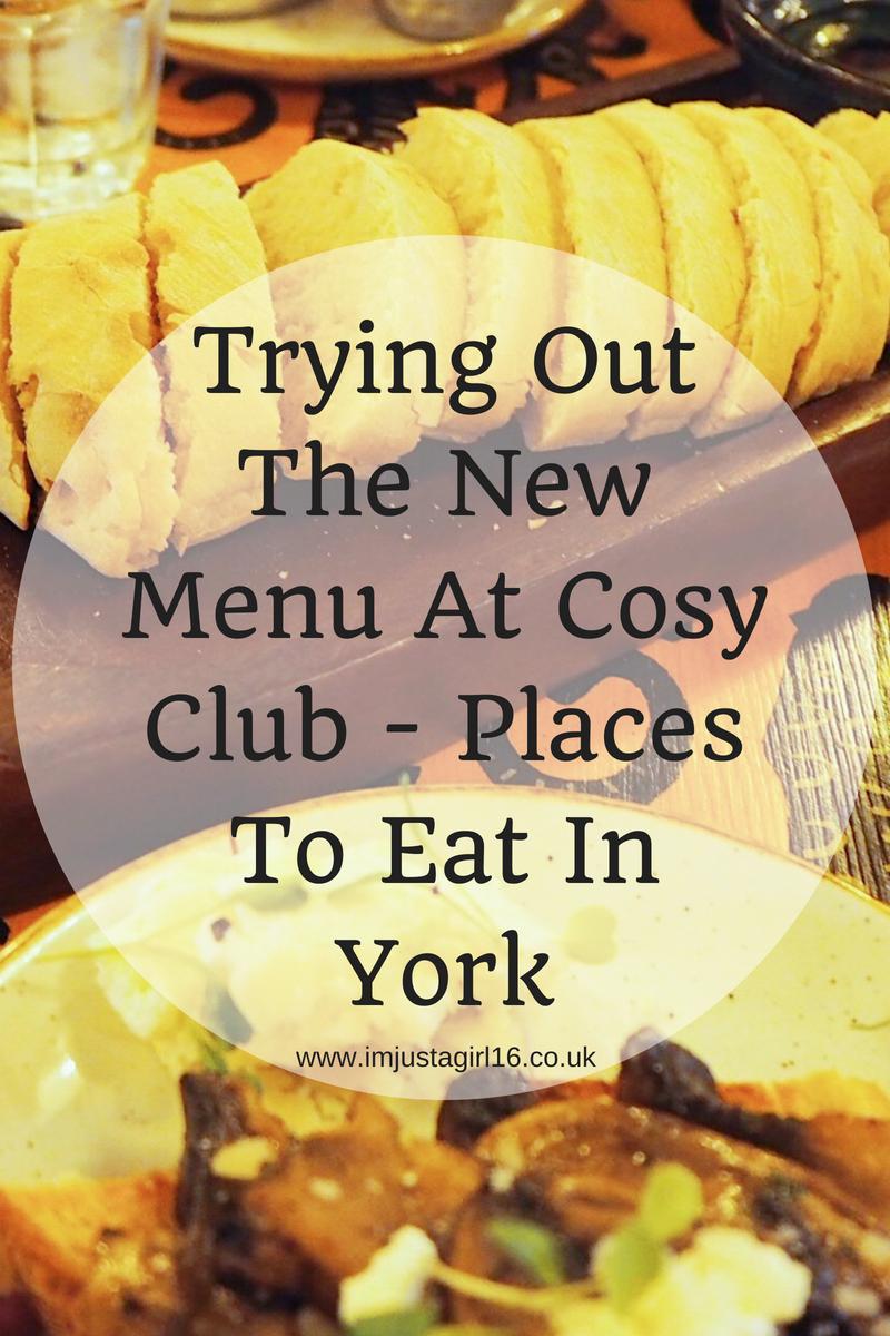 New Menu At Cosy Club