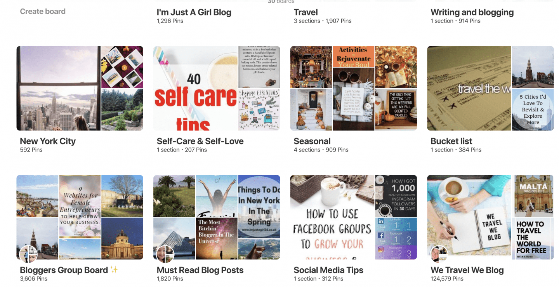 pinterest for travel bloggers